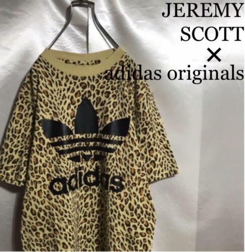 JEREMY SCOTT adidas originals t-shirt leopard yell