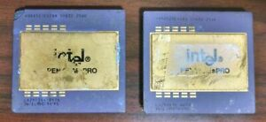 Lot 2 pcs Intel Pentium Pro Ceramic CPU Scrap/Salvage Gold Precious Metals ~A32