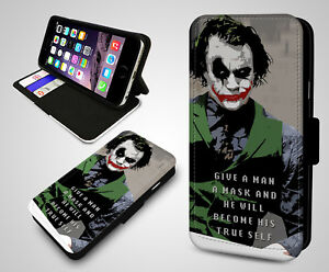 Joker Quotes Batman Give A Man Mask True Self Leather Wallet Phone
