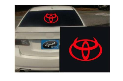 """31/"""" toyota devil TRD JDM vinyl Decal sticker any size color surface car S223"""