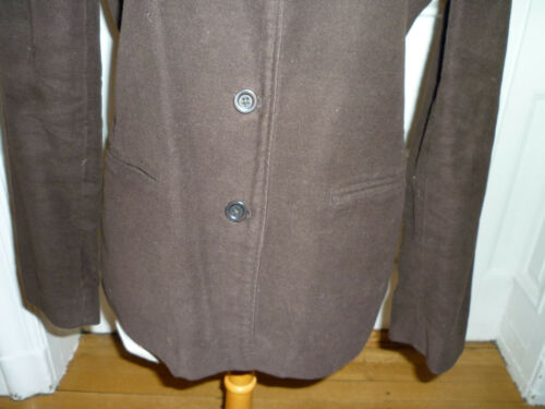 Gap Front Brown Blazer Medium Button Bomuld Moleskin Chocolate Jacket rH7xSTqr