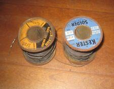 Partial Spools Vintage Lead Silver Alloy Solder