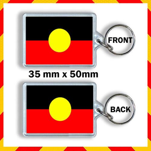 35X50mm KEYRING AUSTRALIAN ABORIGINAL FLAG KEY CHAIN