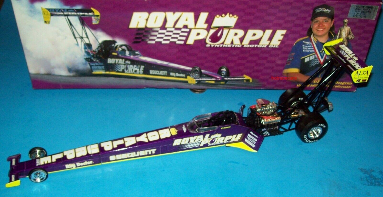 Cristen Powell 1997 Royal viola Top Fuel Dragster 1 24 Racing Collectables Club of America Vintage Asociación Nacional de Hot Rod