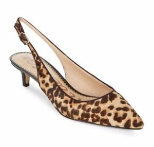 2f0bc1a0bdcb Image is loading Sam-Edelman-Ludlow-Calf-Hair-Slingback-Pumps-Leopard-