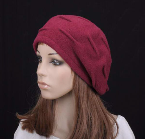 JM236 Black Stylish Veins Winter Warm Wool Beret Beanie Hat Cap Women/'s New