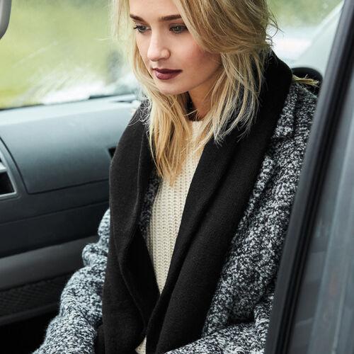 Beechfield Classic Knitted Scarf Luxury Unisex warm winter accessory tassel trim