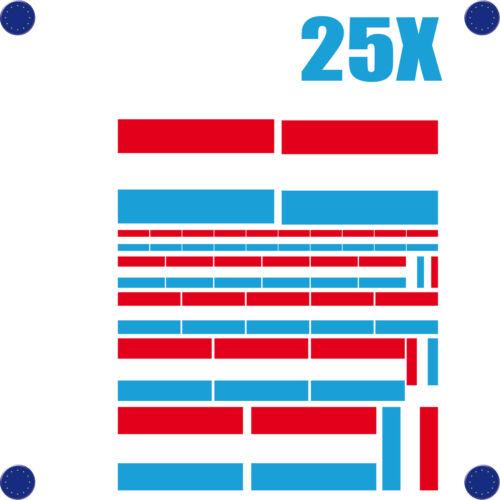 25 stickers autocollants en vinyl et mélange de tailles assortiment LUXEMBOURG