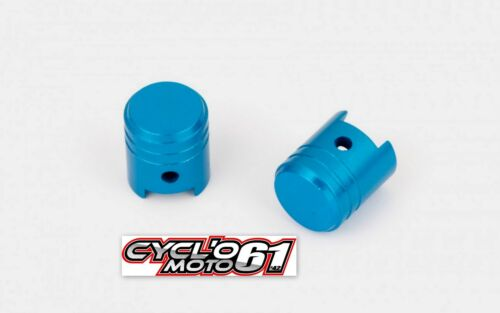 Bouchon de valve moto piston bleu