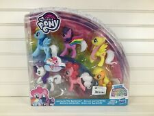 My Little Pony Girl/'s Glitter Snap Barrettes with Braided Tails Set of 4 New