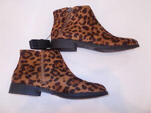 leopard booties size 11