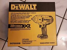 """DeWalt 20V MAX XR 1/2"""" Brushless Hog Ring (Bare Tool) Impact Wrench DCF899HB"""