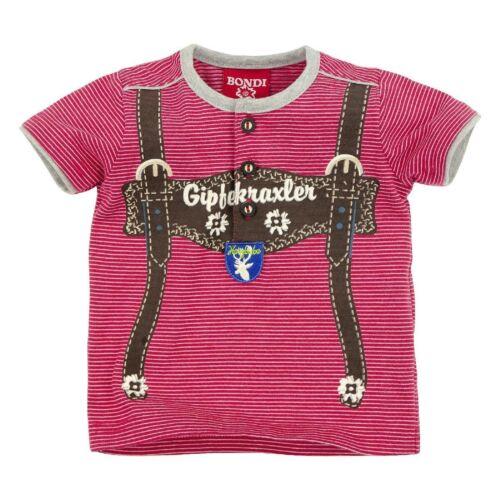 90770 Bondi Kinder Jungen Trachten Shirt Tshirt T-shirt NEU Gr 62-116 rot