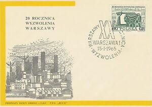 Poland FDC (Mi. 1561) Warsaw liberation #1 - Bystra Slaska, Polska - Poland FDC (Mi. 1561) Warsaw liberation #1 - Bystra Slaska, Polska