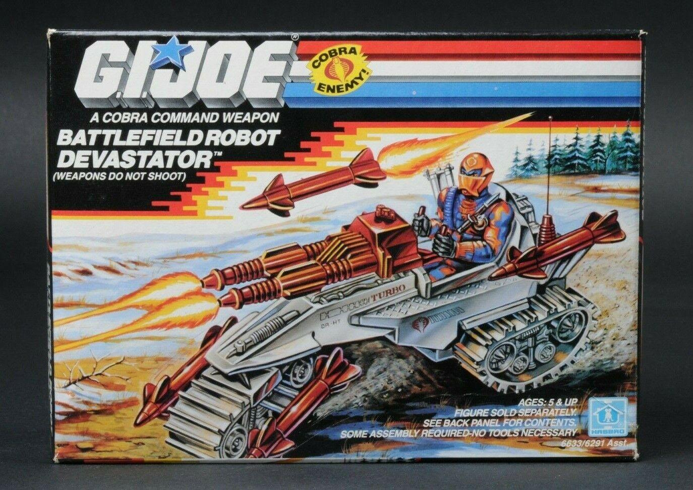 1989 Hasbro Gi Joe Battlefield robot Devastator Menta en caja sellada caja sellada de fábrica