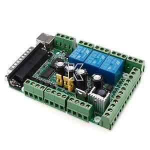 usb 6 axis interface breakout board adapter cnc mach3 for stepper motor driver ebay