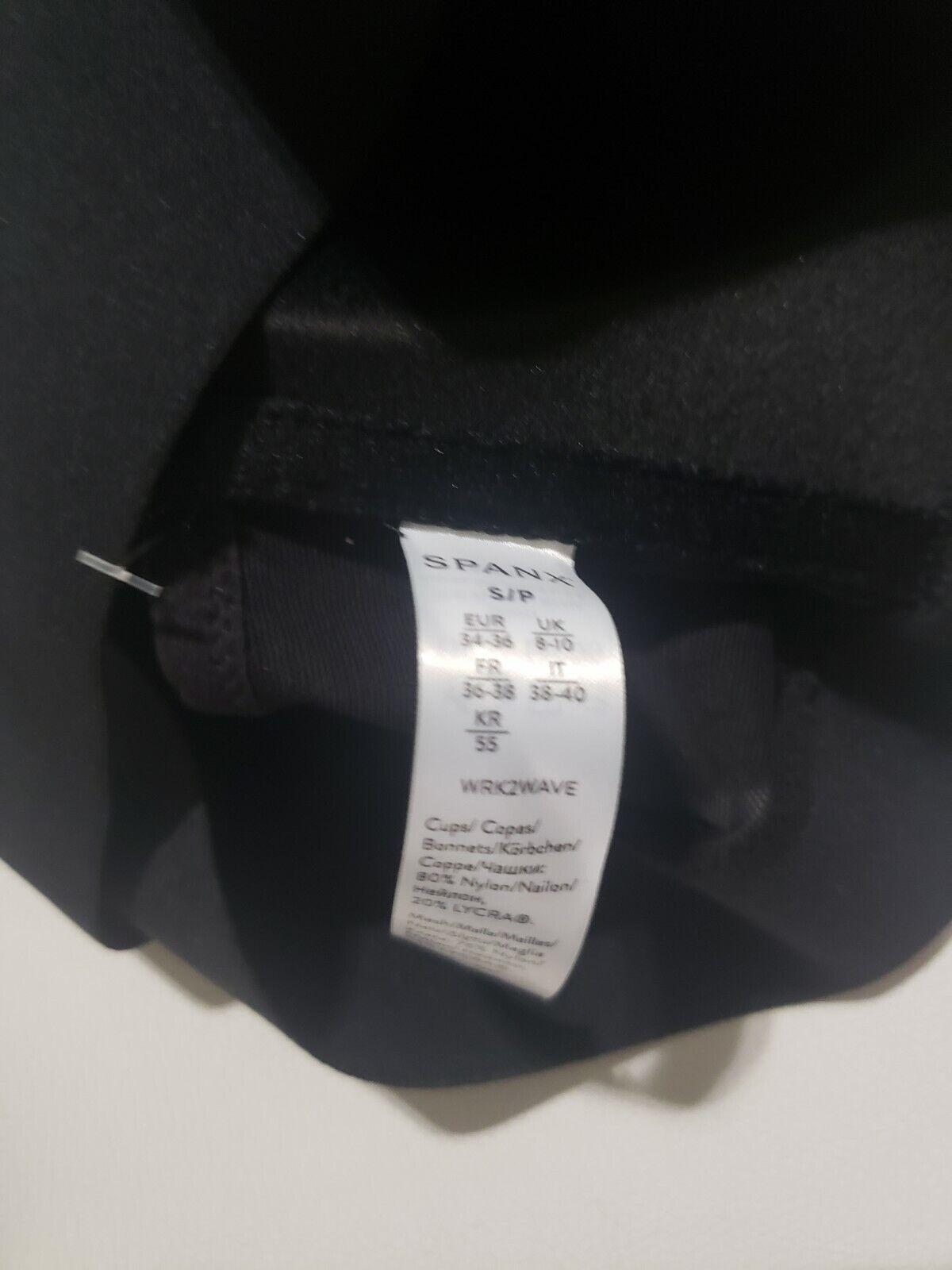 Spanx Mesh Panel Medium Impact Sports Bra - Black - S -new with tag price
