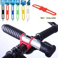 Sale 5Pcs Cycling Bicycle Flashlight Mount Holder Silicone Elastic Strap Bandage