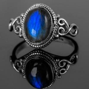 Labradorite Ring 925 Sterling Silver Ring Handmade Ring Boho Ring All Size KA-5