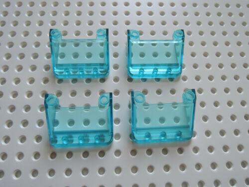 Lego 4 x Cockpit Frontscheibe 57783 transparent hellblau 3x4x1 1//3 7939 7945  GB