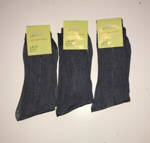 12 PAIRS MENS DARK GREY, SILK FEEL SHEER SOCKS, SIZE 6 - 11.
