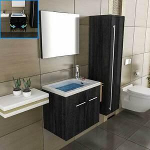 schwarz g ste wc waschbecken unterschrank handwaschbecken On badezimmermobel gaste wc