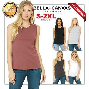 NEW-Bella-Canvas-Women-039-s-Flowy-Scoop-Muscle-Tank-Top-B6003-SPORT-WORKOUT-TNAK