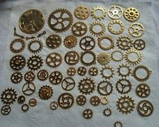 100 STEAMPUNK  COGS AND GEARS METAL  SIZES FROM 44mm to 10mm WEIGHT OVER 200 GR