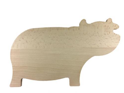 Servierbrett Schneidebrett 30x19cm Nashorn-Motiv Handarbeit Frühstücksbrett