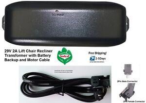 Pride Lift Chair Power Recliner Transformer W Battery