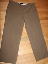 Women's size 10 BCBG MAXAZRIA cropped dress pants brown