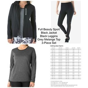 Discreet Fullbeauty 14/16 Black Jacket m Leggings And Top 3-piece Set Retail $149.99 Modern And Elegant In Fashion