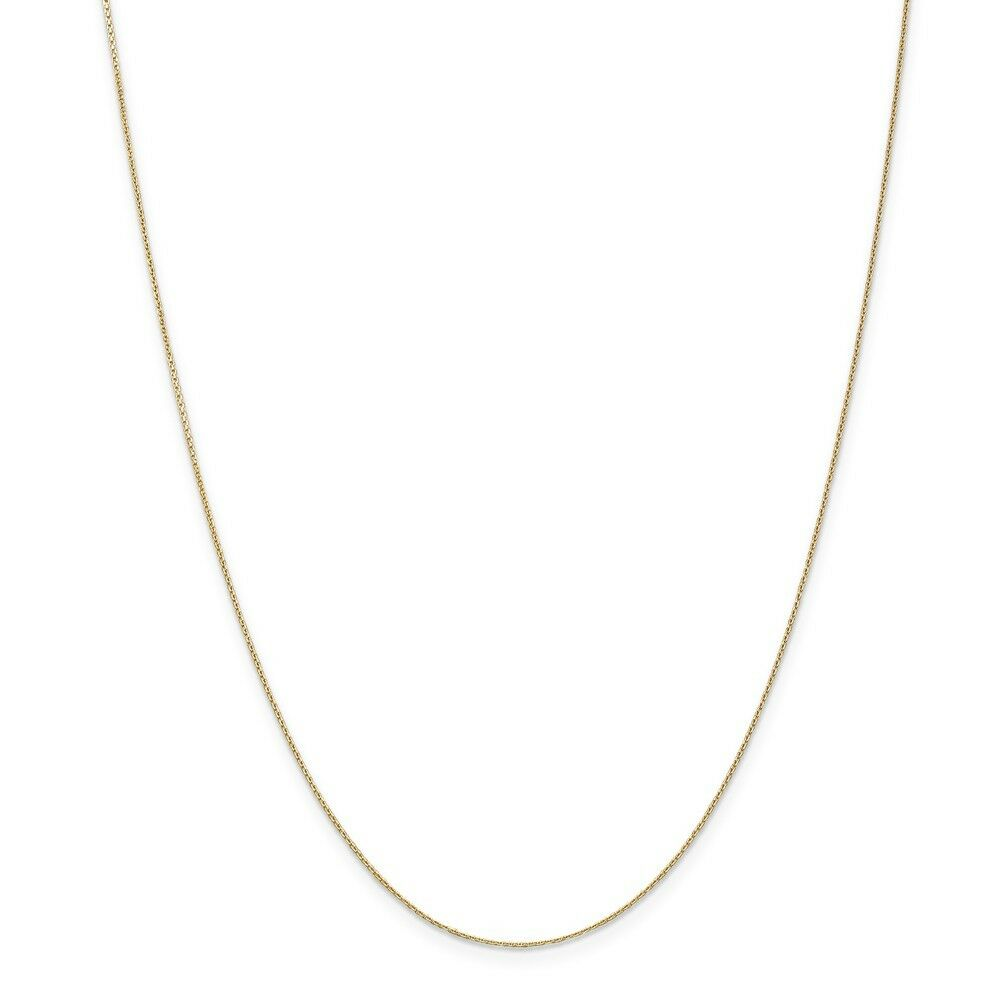 14kt Yellow gold .65mm D C Cable Chain; 16 inch