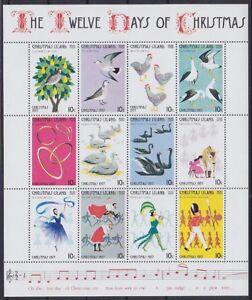 Weihnachtsinsel Mi Nr. 86 - 97 ** Bogen, 1977, Tiere, postfrisch MNH