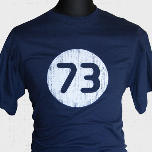 The Big Bang Theory 73 T Shirt Sheldon Cooper Cool Vintage Funny New