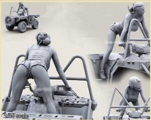 1-35-Resin-Figure-Model-Kit-GIRL-RIDER-NO-CAR-1-FIGURE-Unassambled-Unpainted