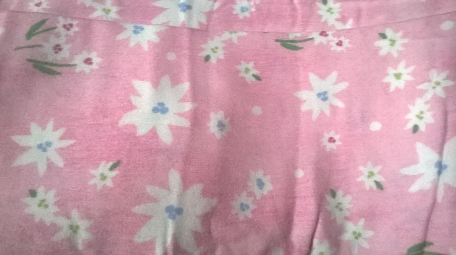 Nouveau POTTERY BARN Kids rose Blossom Flanelle deux feuilles floral