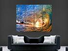 WAVE SEA SURF SUNSET BEAUTIFUL ART WALL LARGE IMAGE GIANT POSTER