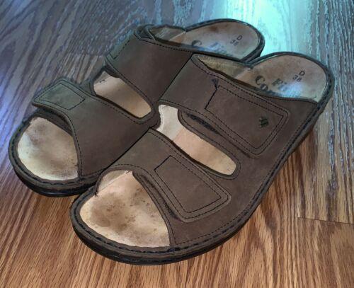 Finn Comfort Jamaica Women's Brown Leather Slides