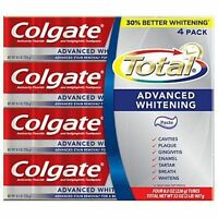 Colgate Total Advanced Whitening Toothpaste 4ct/8oz, Free Shipping Fast Serv
