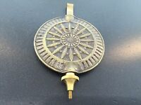 Seth Thomas Style Sunburst Adjustable Clock Pendulum
