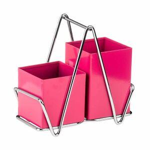 Image Is Loading Premier Housewares Hot Pink Cutlery Caddy Metal Utensil