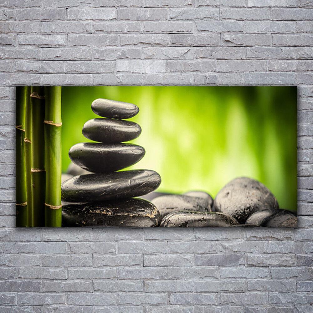 Impression sur verre Wall Art 120x60 Photo Image Bambou pierres art