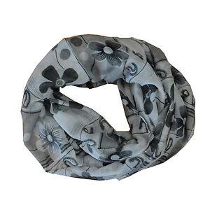 New Tur//Black Skull Light Weiget  X-Lgrge Infinity Scarf Loop Cowl