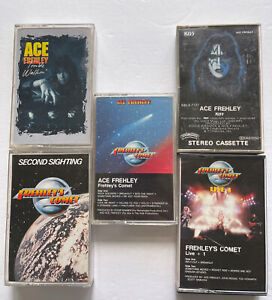 Ace Frehley Trouble Walkin' Solo and Frehley's Comet 5 Cassette Lot 70s 80s