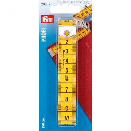 Prym cinta métrica profesional con ojal 150 cm bandmaß schneidermaßband 282171