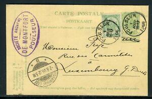 Belgique - Entier Postal + Complément De Poulseur Pour Luxembourg En 1906 - M106
