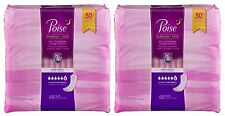 Poise Incontinence Overnight Pads 45 Count Ultimate Absorbency Long Length 2 PK