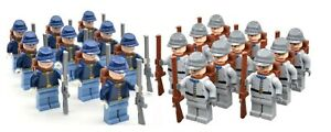 American-Civil-War-North-South-Troop-Soldier-Army-Minifigure-LEGO-Compatible