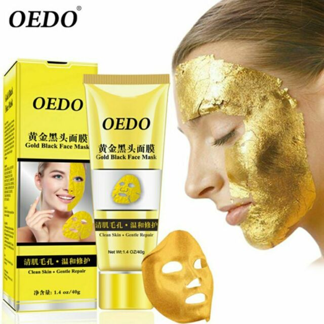Gold Remove Blackhead Mask Shrink Pore Improve Skin Rough Acne Treatment UK